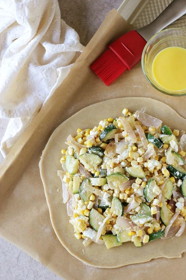 Corn and Zucchini Galette