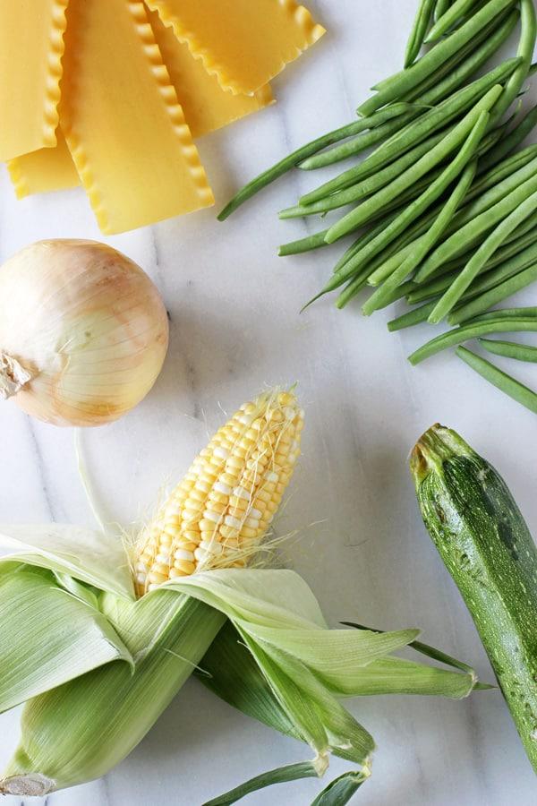 Summer Vegetable Skillet Lasagna