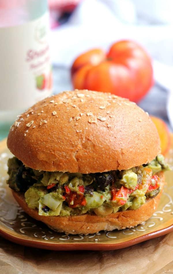 Pesto Chickpea Salad Sandwiches
