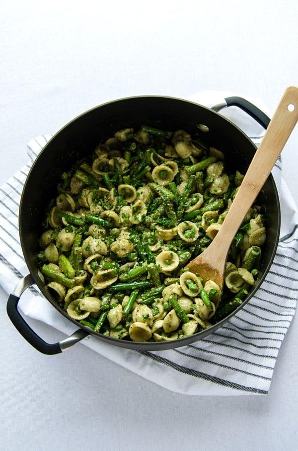 Mean Green Pesto Pasta