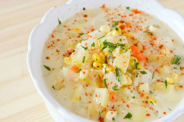 Potato, Corn & Kohlrabi Chowder