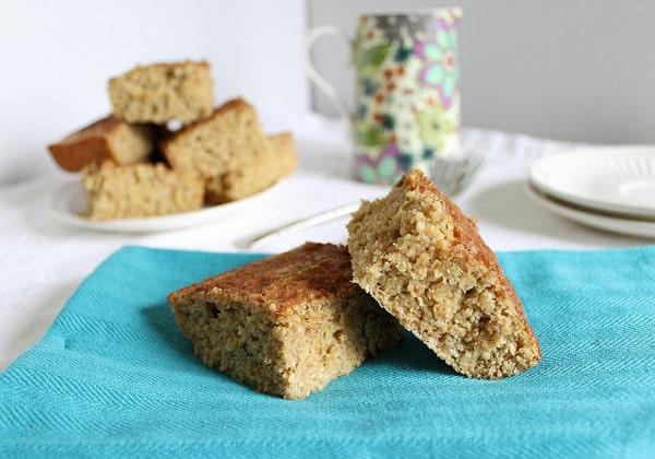 High Protein Cinnamon Cake Bars