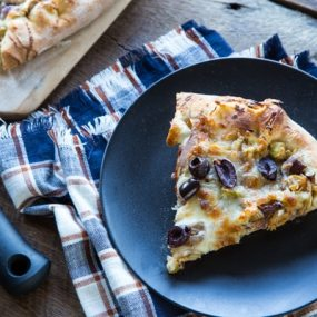 Caramelized Onion and Fennel Pizza with Kalamata Olives