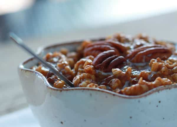 Crock Pot Overnight Pumpkin Pecan Oatmeal