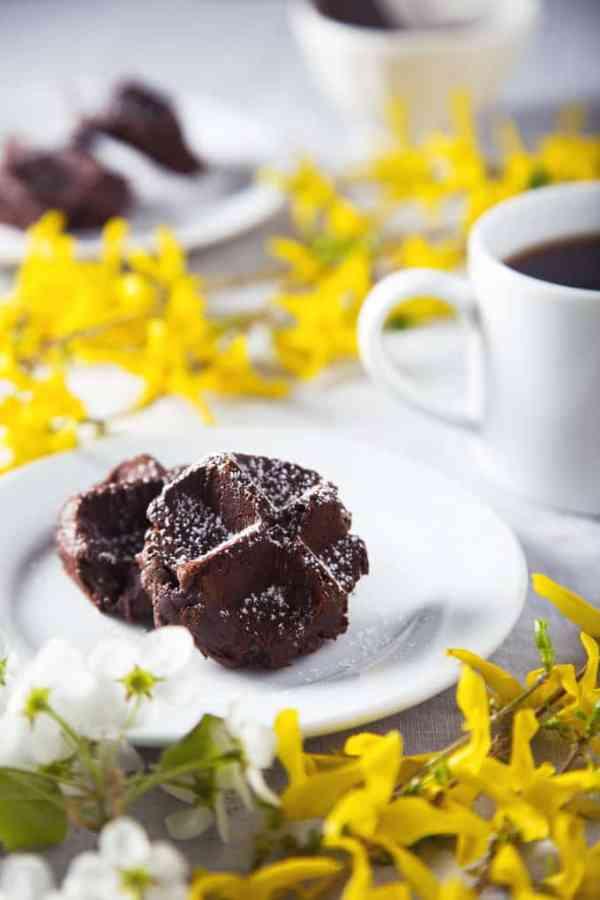 Triple Dark Chocolate Waffle Cookies