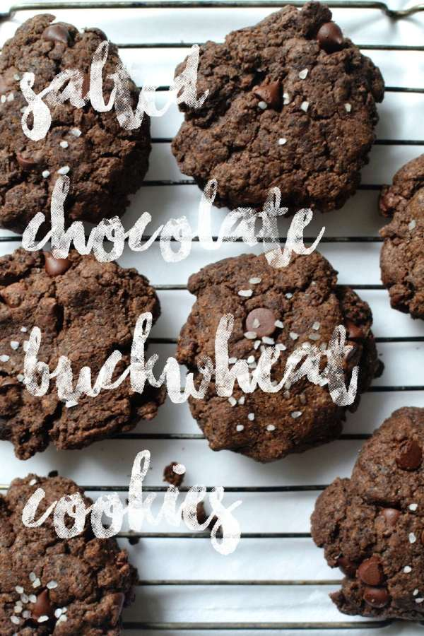 Salted Chocolate Buckwheat Cookies