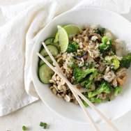 Broccoli and Mushroom Thai Fried Rice