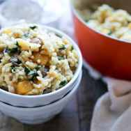 Baked Butternut Squash and Champagne Risotto