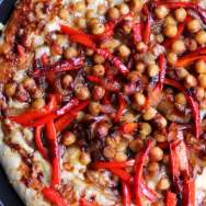 BBQ Chickpea Pizza