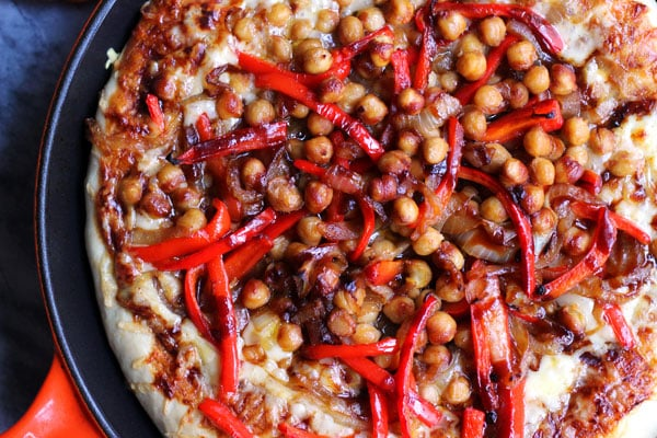 BBQ Chickpea Pizza