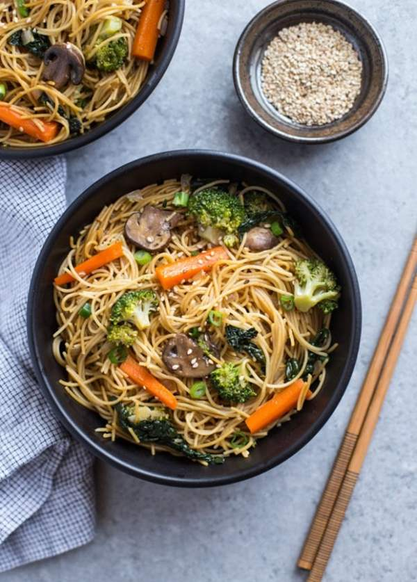 Winter Veggie Lo Mein