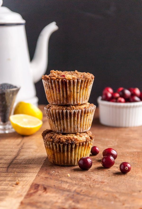 Cranberry Lemon Poppyseed Muffins