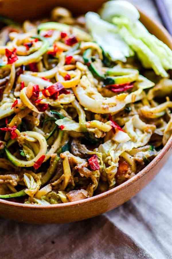 Spiralized Vegetable Stir Fry