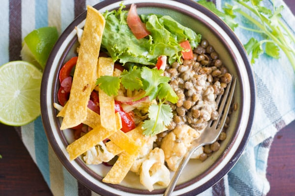 Lentil Taco Bowls