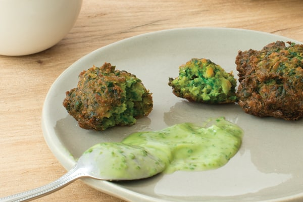 Spinach and Chickpea Spoon Fritters Recipe