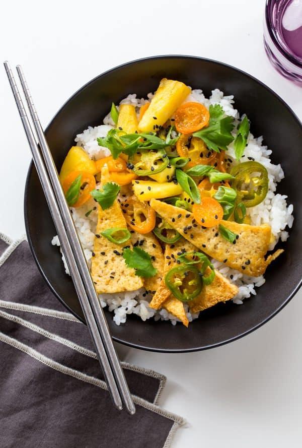 Tofu and Pineapple Stir-Fry