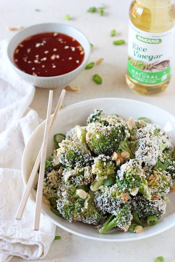 Baked Broccoli Poppers with Honey-Sriracha Dipping Sauce