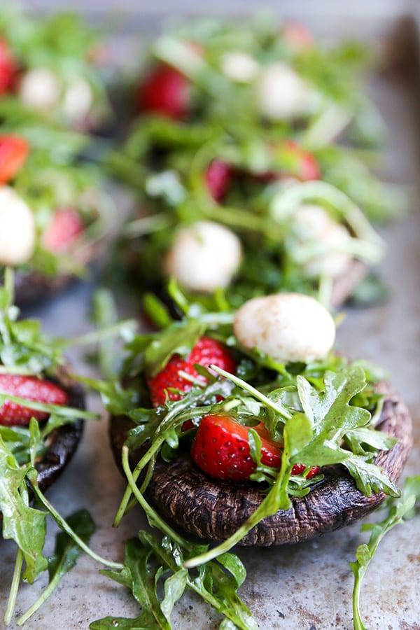 Caprese Salad Stuffed Portabella Mushrooms