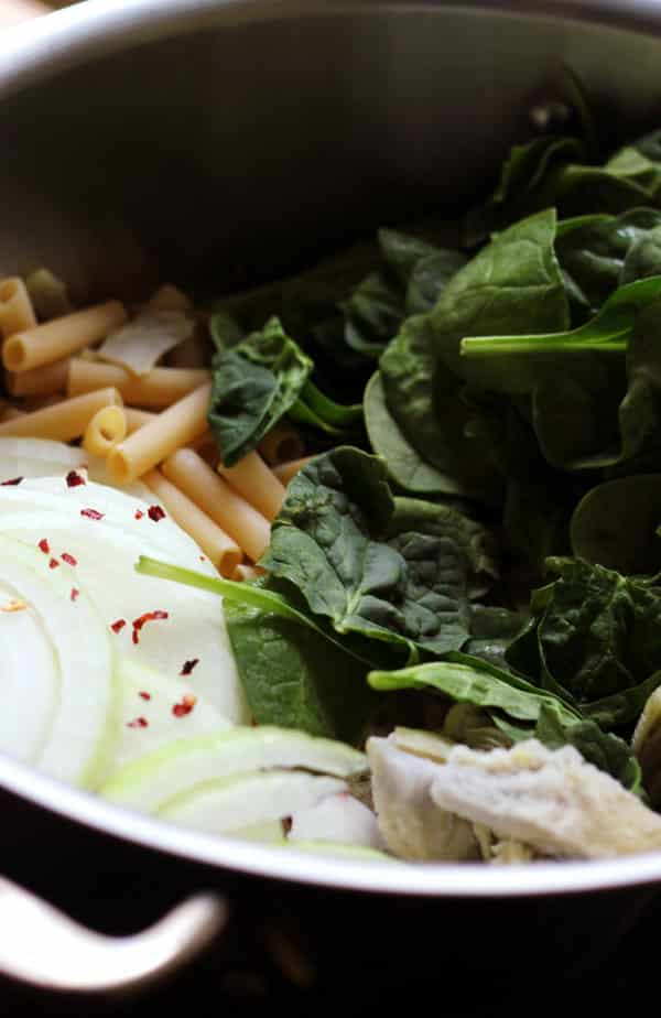 One-Pot Spinach and Artichoke Pasta