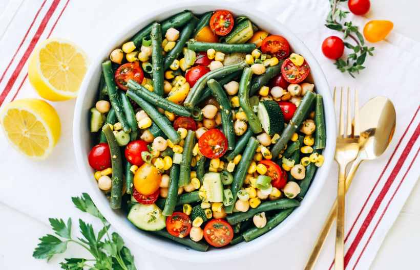 Food 1 2016 6 10 Vegetable Complete Protein Mexican Summer Salad >> Green Bean Summer Salad By Ohmyveggies Com