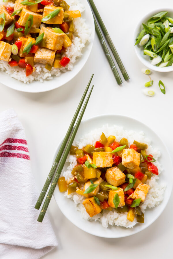 Baked Sweet and Sour Tofu
