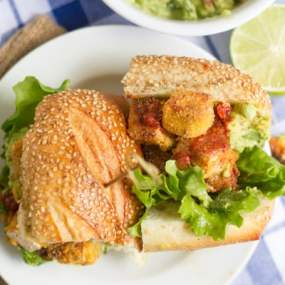 Spicy Cornmeal-Crusted Tofu Sandwiches