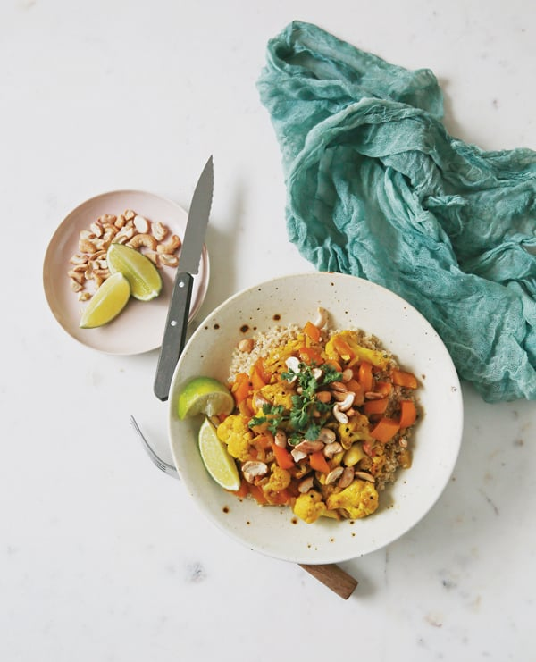 Cashew Cauliflower Curry with Quinoa