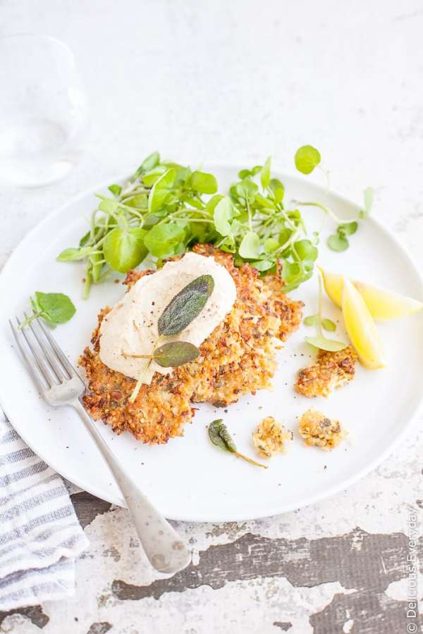 Cauliflower, Sage and Quinoa Fritters