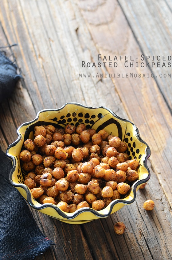 Falafel Spiced Roasted Chickpeas