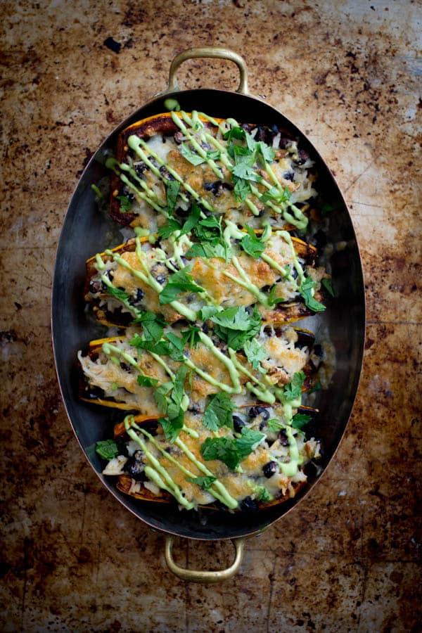 Delicata Squash Burrito Bowls