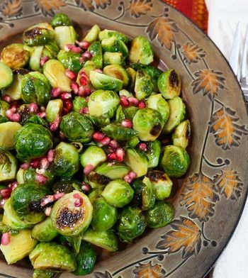 Cider Glazed Roasted Brussels Sprouts
