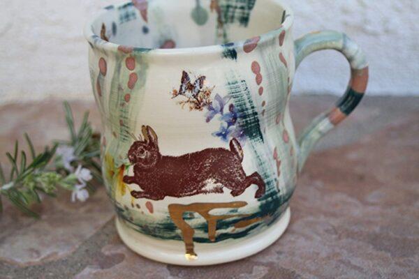 handmade ceramic bunny mug kitchen tools