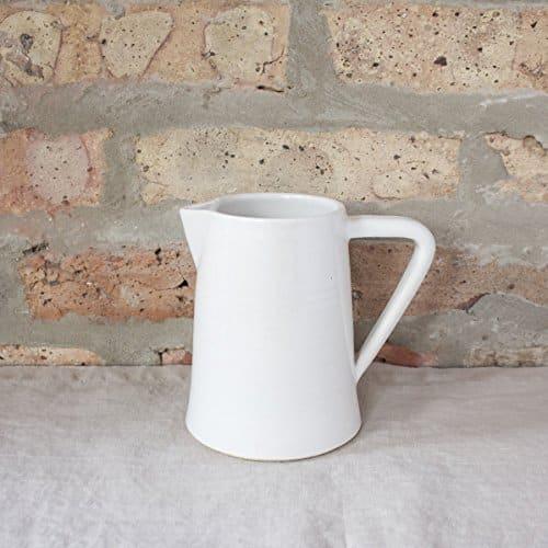 small modern white ceramic pitcher handmade kitchen tools