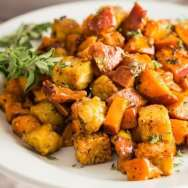Roasted Sweet Potato and Tempeh