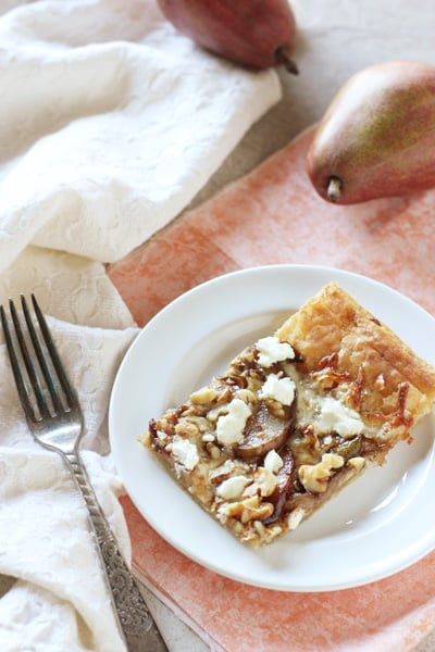 Pear, Walnut & Goat Cheese Tart