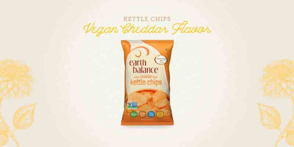 earth balance vegan cheddar flavor kettle chips healthy holiday travel snacks