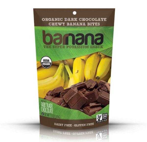 organic dark chocolate chewy banana bites barnana healthy holiday snacks for travel