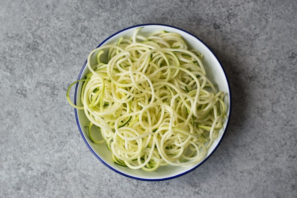 Pasta with Thyme Cream & Zucchini Noodles