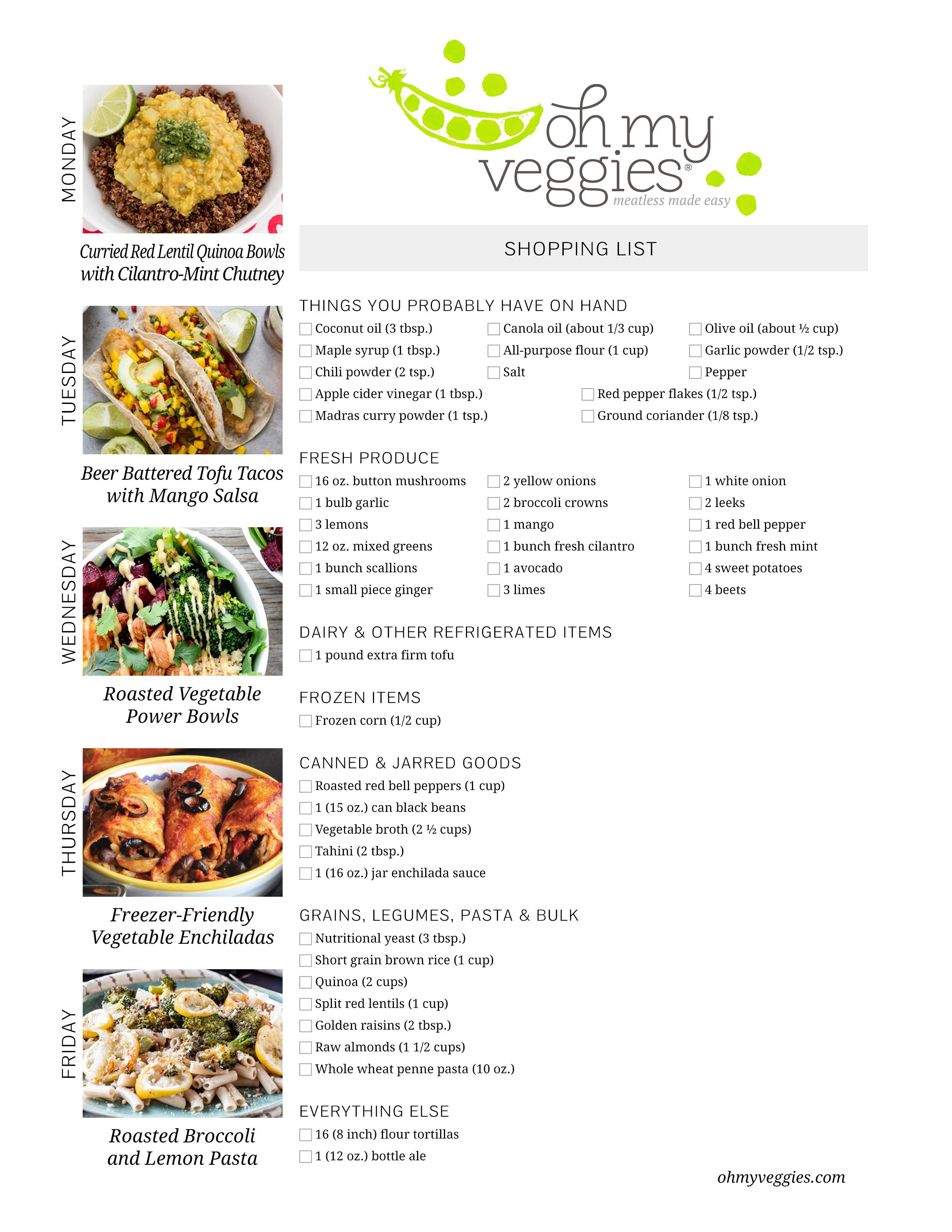 vegan meal plan 02 13 17