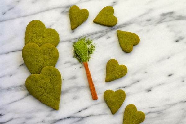 Matcha Shortbread Cookies