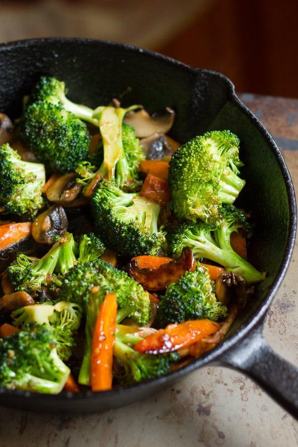 Winter Vegetable Stir-Fry with Crispy Tofu
