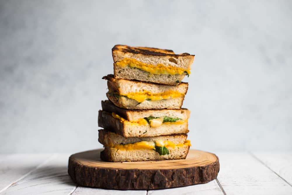 Roasted Garlic and Butternut Squash Grilled Cheese Sandwich