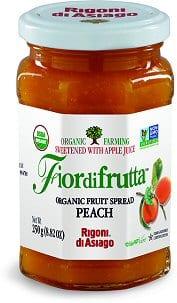 fiordifrutta organic fruit spread peach healthy breakfasts