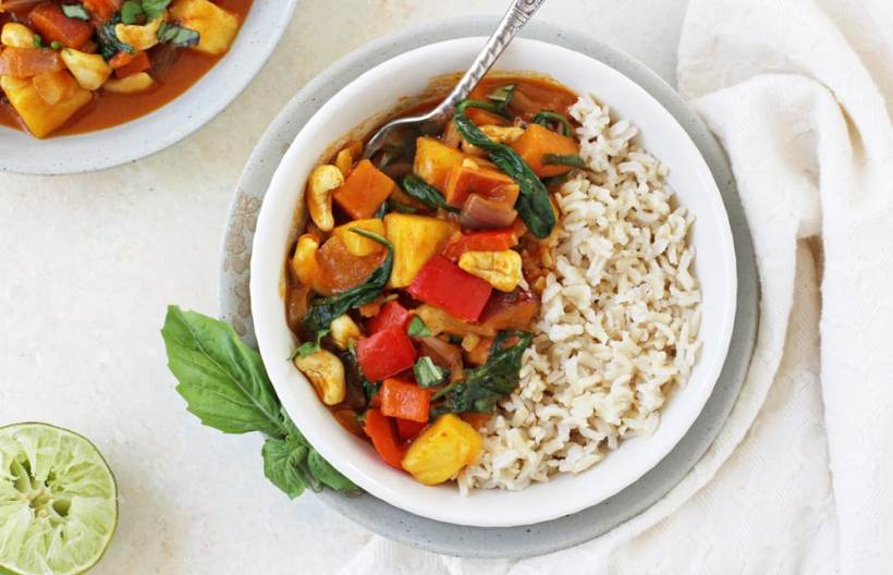 Thai Red Curry with Pineapple