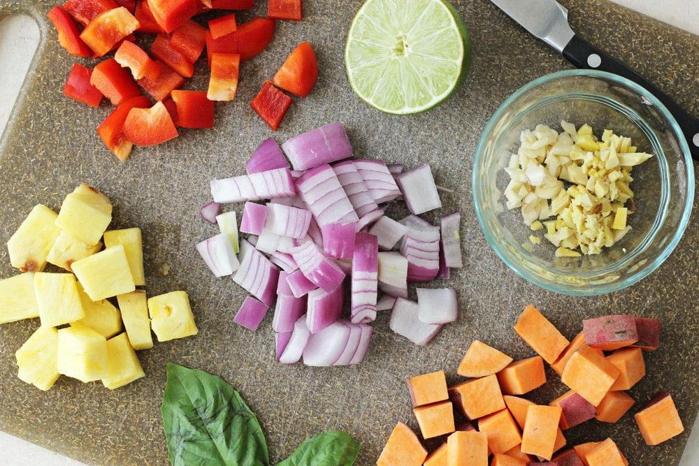 Thai Red Curry with Pineapple & Sweet Potatoes