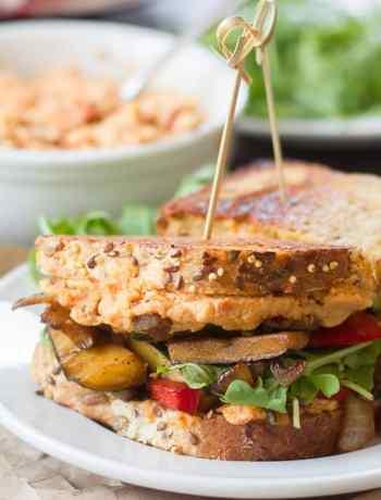 Vegan Balsamic Veggie & Sun-Dried Tomato Hummus Panini