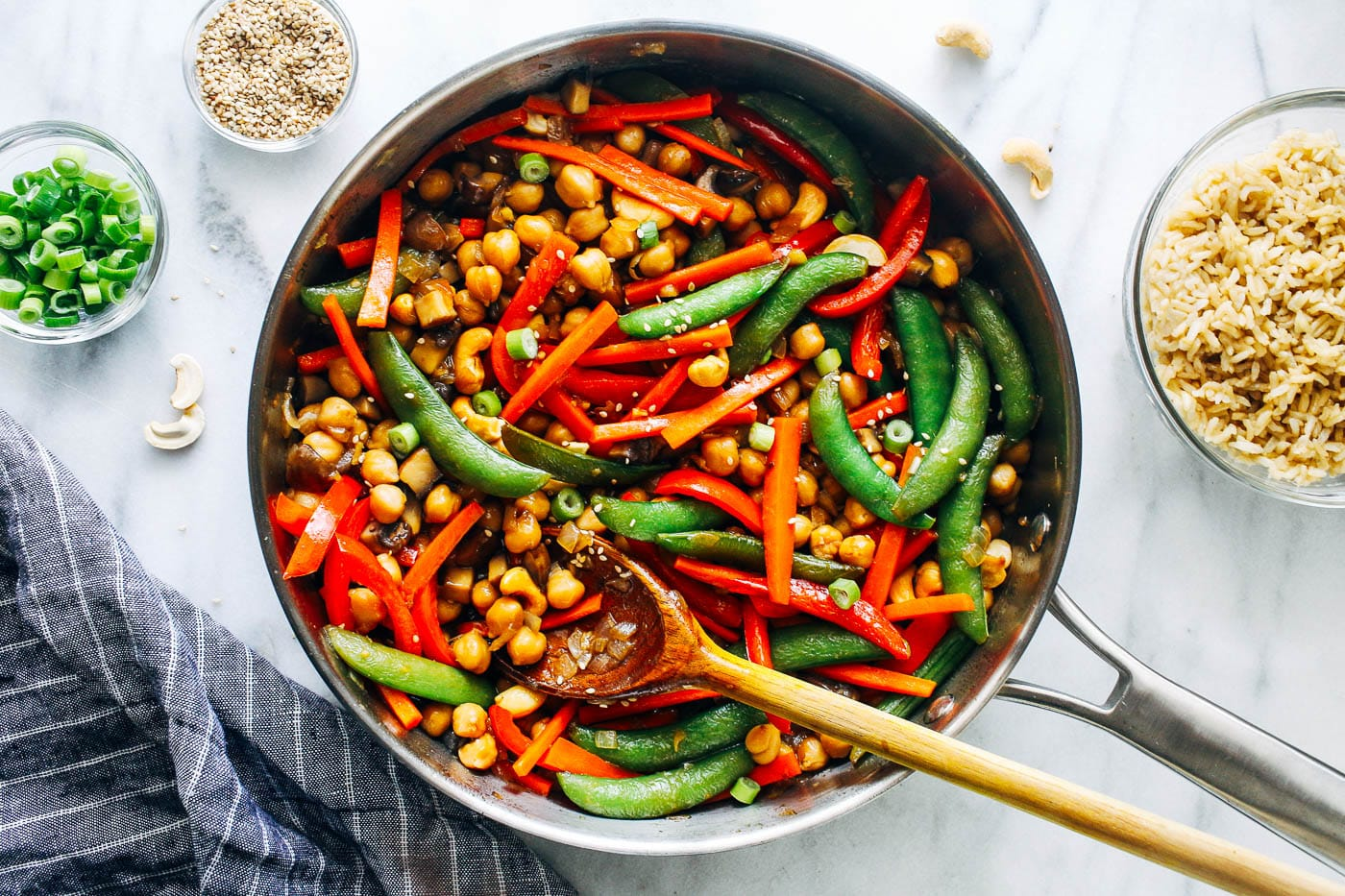 Teriyaki Chickpea Stir-Fry