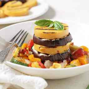 Ratatouille Polenta Stacks