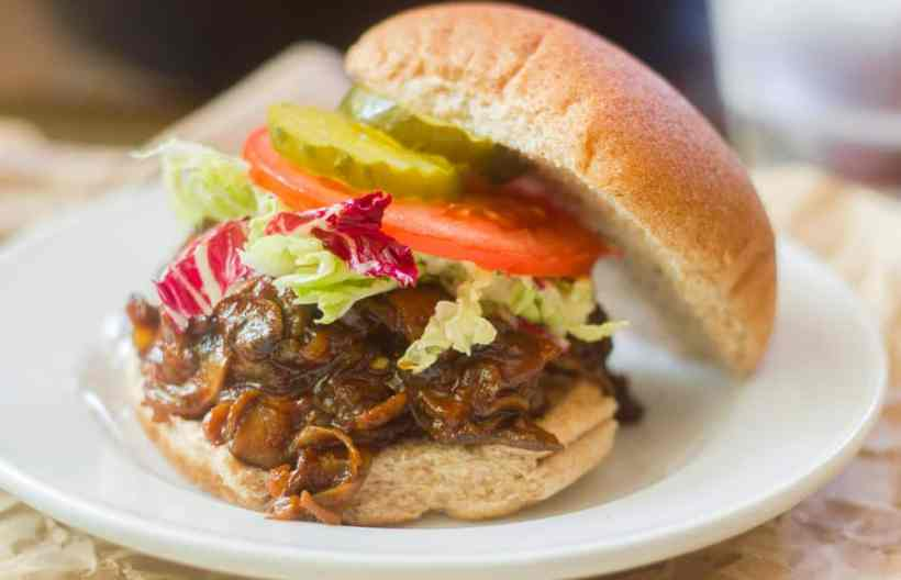 Barbecue Pulled Mushroom Sandwiches
