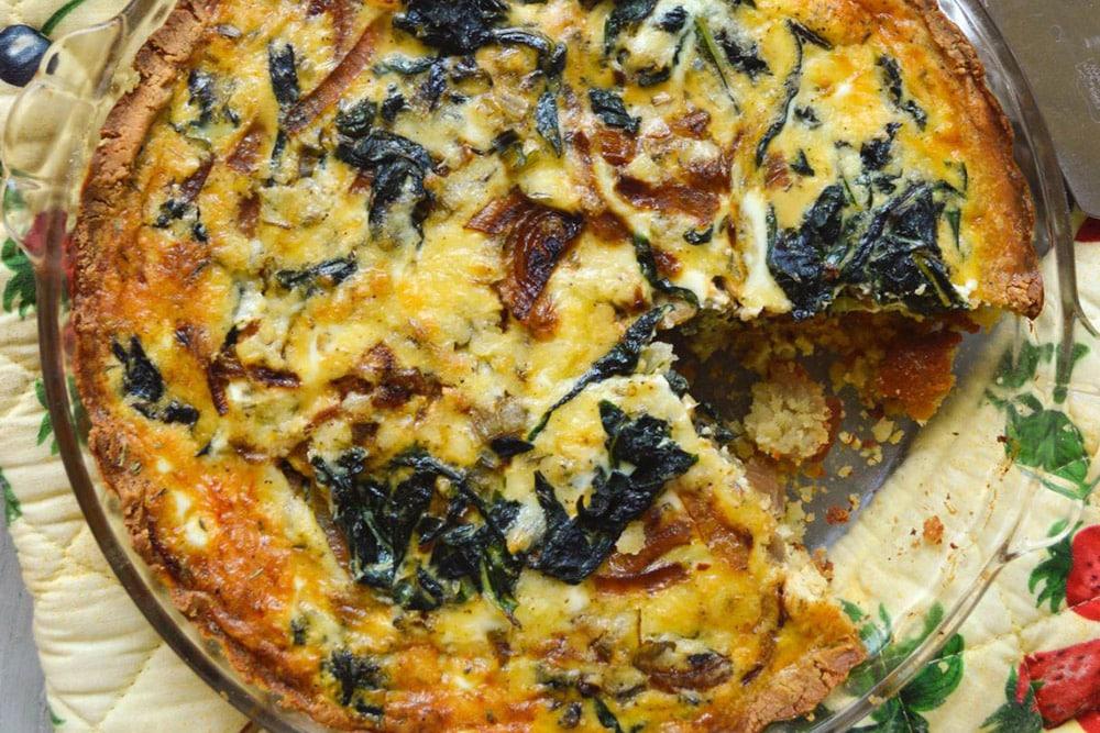 17 Creative Quiche Recipes: Swiss Chard and Caramelized Onion Quiche